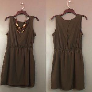 Brown Romper Dress